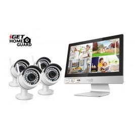 iGET HGNVK49004 - CCTV bezdrátový WiFi set HD 960p s LCD displejem 12'', 4CH NVR + 4x IP kamera 960p