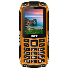 iGET Defender D10 Orange - odolný telefon IP68, DualSIM, 2500 mAh, BT, powerbanka, svítilna, FM, MP3