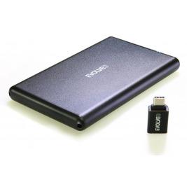 EVOLVEO 2.5'' Tiny 2, 10Gb/s, externí rámeček na HDD, USB A 3.1 + redukce USB A/USB C