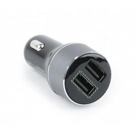 USB autonabíječka GEmbird, 2xUSB,2100mA, Quick Ch.