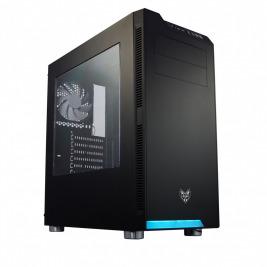 FSP/Fortron ATX Midi Tower CMT240 Black, průhledná bočnice