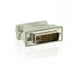 4World Adaptér DVI-A 24M - VGA 15F Gray