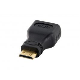 4World Adaptér mini HDMI C M - HDMI F Black