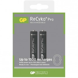 Nabíjecí baterie GP AAA Recyko+ 800mAh (2ks)