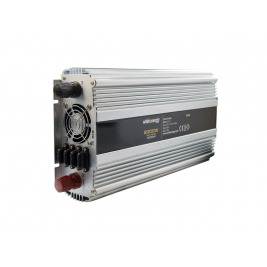 WE Měnič napětí DC/AC 24V / 230V, 2000W, 2 zásuvky