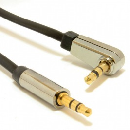 GEMBIRD 3.5 mm stereo jack, 0,75 m, M/M, 90° lomený konektor