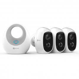EZVIZ C3A Battery Camera Triple Pack (3xC3A+1xW2D)