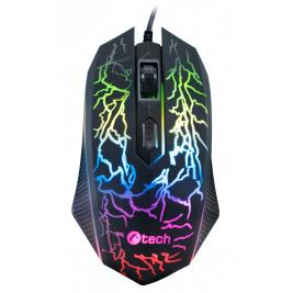Herní myš C-TECH Tychon (GM-03P), casual gaming, herní, 7 barev podsvícení, 3200DPI, USB
