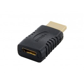 4World Adaptér HDMI M - Mini HDMI C F Black