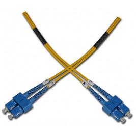 Optický patchkabel duplexní, SC-SC 9/125um SM 0,5m, OS2
