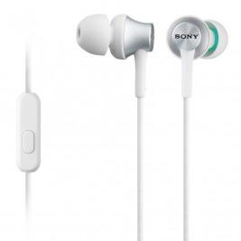 SONY sluchátka MDR-EX450AP, hliník, handsfree,bílá