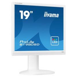 19'' LCD iiyama Prolite B1980SD-W1 - 5ms,250cd/m2,1000:1,5:4,VGA,DVI,repro,pivot,výšk.nastav.,bílý