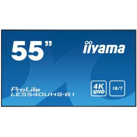 55'' iiyama LE5540UHS-B1 - AMVA3,4K UHD,8ms,350cd/m2, 4000:1,16:9,VGA,HDMI,DVI,USB,RS232,RJ45,repro