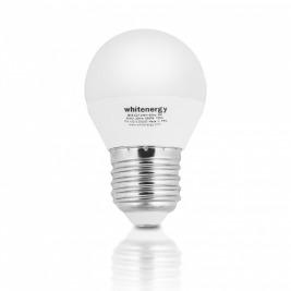 WE LED žárovka SMD2835 G45 E27 7W teplá bílá