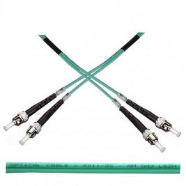 Optický patch kabel duplex ST-ST 50/125 MM 1m OM3