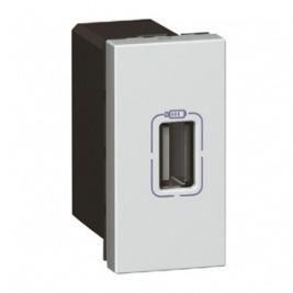 MOSAIC USB nabíječka 1100 mA, 1 modul, hliník