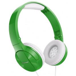 Pioneer náhlavní sluchátka zelená