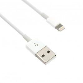 Kabel C-TECH USB 2.0 Lightning (IP5 a vyšší) nabíjecí a synchronizační kabel, 2m, bílý