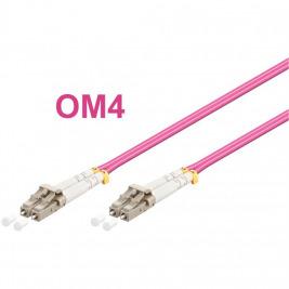 Optický patch kabel duplex LC-LC 50/125 MM 20m OM4