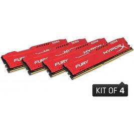 32GB DDR4 2400MHz CL15 DIMM 1Rx8 HyperX FURY Red, 4x8GB