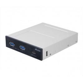 AKASA USB hub 2 x USB 3.0 + USB 3.0 typ C interní