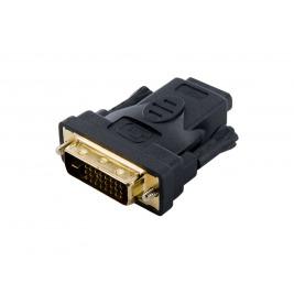 4World Adaptér DVI-D 24+1M - HDMI F Black