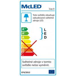 Svítidlo přisazené LED  8W 2700K 520lm Gap 8 IP20