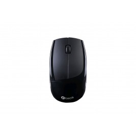 Klávesnice C-TECH WLKMC-02, bezdrátový combo set s myší, ERGO, černý, USB, CZ/SK