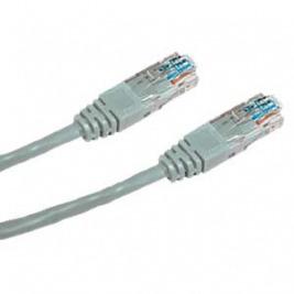 DATACOM Křížený UTP patch kabel 0,5m Cat5e šedý