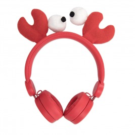 Drátová sluchátka Forever AMH-100 3,5 mm mini jack s magnetickými prvky červená