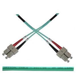 Optický patch kabel duplex SC-SC 50/125 MM 1m OM3