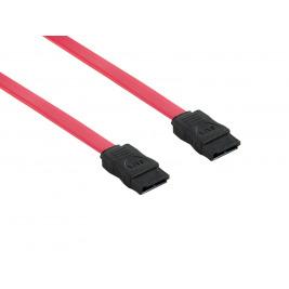 4World Kabel SATA M/M 7pin 50cm Red