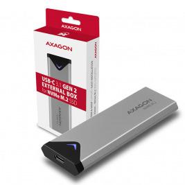 AXAGON EEM2-UG2, USB-C 3.2 Gen 2 - M.2 NVMe SSD kovový box, délka 42 až 80 mm