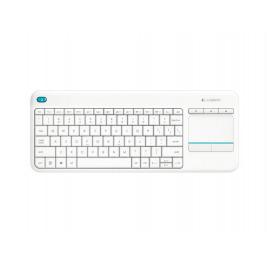 Logitech Wireless Touch Keyboard K400 plus, USB,CZ, bílá
