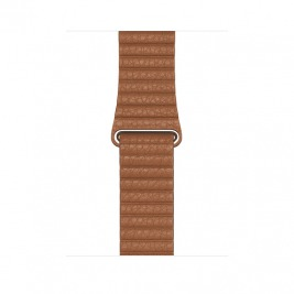 Watch Acc/44/Saddle Brown Leather Loop - Medium
