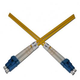 Optický patchkabel duplexní, LC-LC 9/125um SM, 1m, OS2