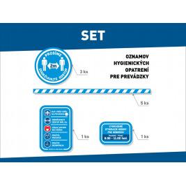 SET oznamov hygienických opatrení pre prevádzky
