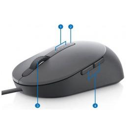 Myš Dell Laser Wired Mouse MS3220 umožňuje vysoce přesné ovládání počítače.