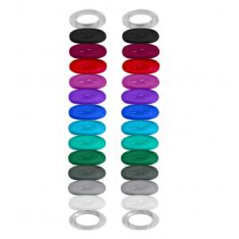 Rozpoznavacie gumičky na poháre 24ks Vinturi