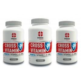 Cross Vitamin Imunita Vitamín C+D+Zinok 3 x 90 kapsúl