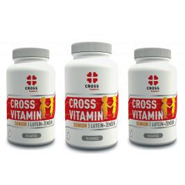 Cross Vitamin Senior Luteín + Ženšen 3 x 90 kapsúl