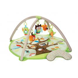 Deka na hranie 5 hračiek, vankúšik Treetop Friends green-brown 0m+