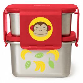 Zoo misky nerez Obedár 2 ks Opička 3+