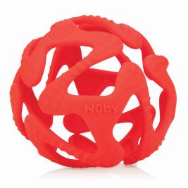 NUBY Hryzačka silikónová lopta červená 3 m+