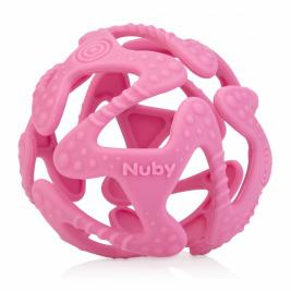 NUBY Hryzačka silikónová lopta ružová 3 m+