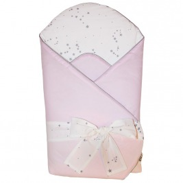 Zavinovačka bavlnená s potlačou a kokosovým vnútrom Light Pink 75x75cm