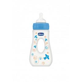 Fľaša Well-Being 0%BPA, 240ml slza, silik., rýchly prietok, modrá