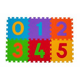 Puzzle penové číslice 6ks, 6m+