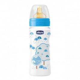 Fľaša bez BPA Well-Being kaučukový cumlík rýchly 330ml, modrá