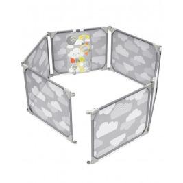 Ohrádka/zábrana s hracím panelom 2v1 rozšíriteľná grey 6m+